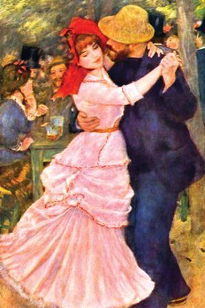 Dance in Bougival (Detail) by Pierre-Auguste Renoir