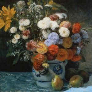 Fleurs dans un pot en faïance by Pierre-Auguste Renoir
