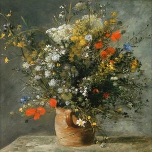 Fleurs dans un vase by Pierre-Auguste Renoir