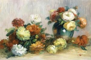 Flower Wreaths, C.1880 by Pierre-Auguste Renoir