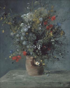 Flowers in a Vase, c. 1866 by Pierre-Auguste Renoir