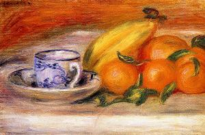 Fruit with Cup by Pierre-Auguste Renoir