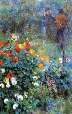 Garden in the rue Cortot Montmartre, 1876 by Pierre-Auguste Renoir