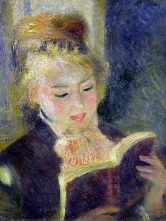 Girl Reading, 1874 by Pierre-Auguste Renoir