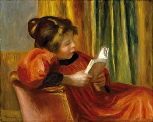 Girl Reading, 1890 by Pierre-Auguste Renoir
