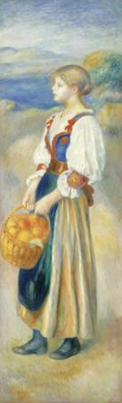 Girl with a Basket of Oranges, c1889 by Pierre-Auguste Renoir