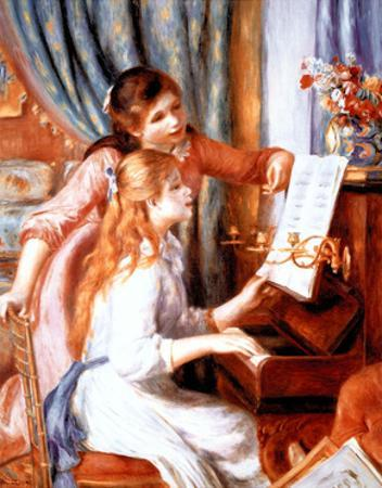 Girls at Piano by Pierre-Auguste Renoir