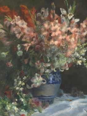 Gladioli in a Vase, C. 1875 by Pierre-Auguste Renoir