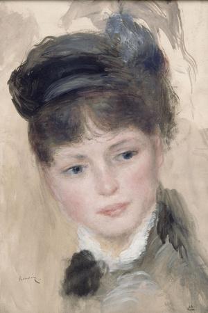 Jeune femme au chapeau noir