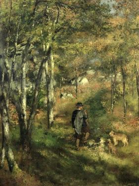 Jules Le Coeur in the Forest of Fontainebleau, 1866 by Pierre-Auguste Renoir
