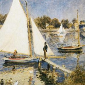 La scéne à Argenteuil by Pierre-Auguste Renoir