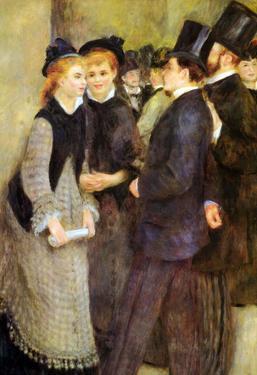 Pierre Auguste Renoir Leaving the Conservatoire Art Print Poster