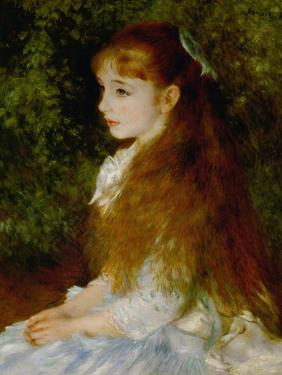 Little Irene, Portrait of the 8 Year-Old Daughter of the Banker Cahen D'Anvers, 1880 by Pierre-Auguste Renoir