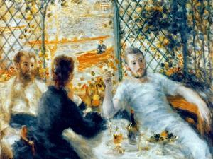 Lunch at the Restaurant Fournaise, 1875 by Pierre-Auguste Renoir