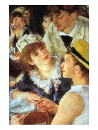 Lunch On The Boat Party, Detail by Pierre-Auguste Renoir