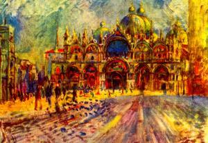 Pierre-Auguste Renoir Marcus Place in Venice Art Print Poster