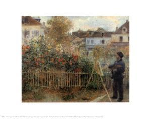 Monet Painting in His Garden at Argenteuil, 1873 by Pierre-Auguste Renoir