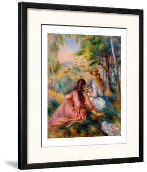 On the Meadow by Pierre-Auguste Renoir