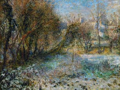 Paysage de neige (Snowy landscape), 1875 51 x 66 R.F. 1960-21 . by Pierre-Auguste Renoir