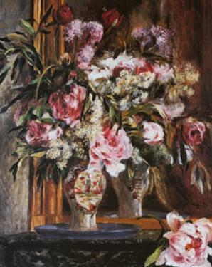 Peonies, Lilacs and Tulips by Pierre-Auguste Renoir