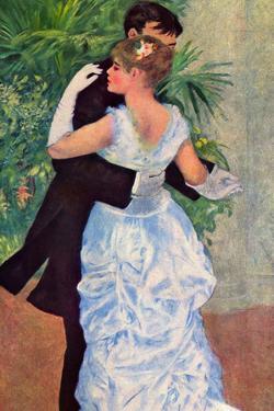 Pierre-Auguste Renoir (Dance in the City) Plastic Sign by Pierre-Auguste Renoir
