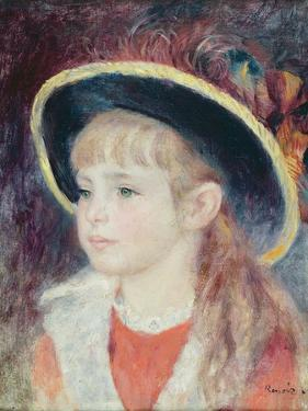 Portrait of a Young Girl in a Blue Hat, 1881 by Pierre-Auguste Renoir