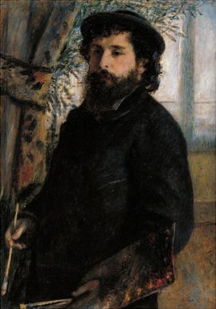 Portrait of Claude Monet by Pierre-Auguste Renoir
