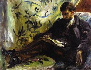 Portrait of Edmond Maitre (The Reader), 1871 by Pierre-Auguste Renoir
