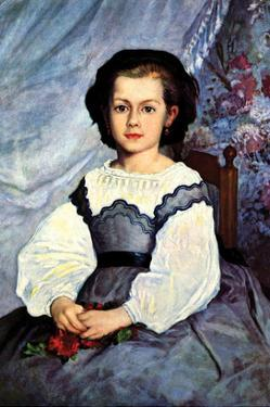 Portrait of Mademoiselle Romaine Lancaux by Pierre-Auguste Renoir