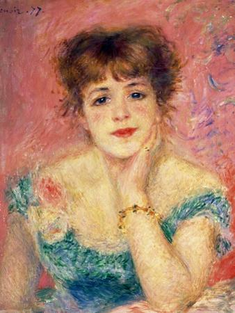 Portrait of the Actress Jeanne Samary, 1877 (Study) by Pierre-Auguste Renoir