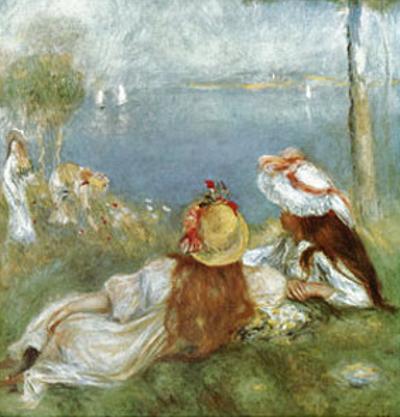 Ragazze in Riva al Mare, c.1894 by Pierre-Auguste Renoir