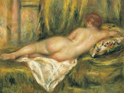 Reclining Nude from the Back, Rest after the Bath by Pierre-Auguste Renoir