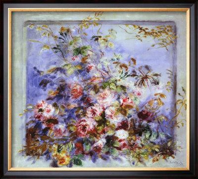 Roses dans une Fenetre by Pierre-Auguste Renoir