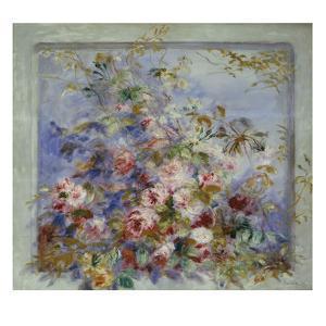 Roses in a Window; Roses Dans Une Fenetre by Pierre-Auguste Renoir