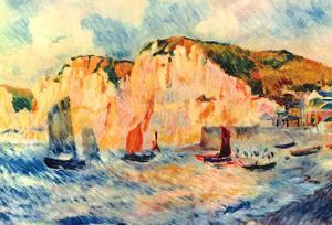 Pierre Auguste Renoir Sea and Cliffs Art Print Poster
