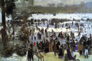 Skating Runners In The Bois De Bologne by Pierre-Auguste Renoir
