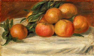 Still Life with Apples and Oranges, C.1901 by Pierre-Auguste Renoir
