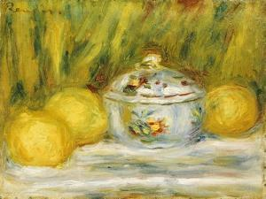 Sugar Bowl and Lemons, 1915 by Pierre-Auguste Renoir