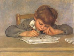 The Artist's Son Jean Drawing, 1901 by Pierre-Auguste Renoir