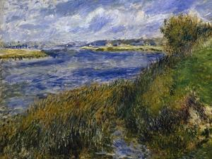 The Banks of the Seine Champrosay by Pierre-Auguste Renoir