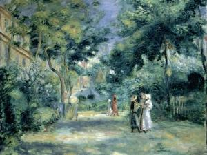 The Gardens in Montmartre, 19th Century by Pierre-Auguste Renoir