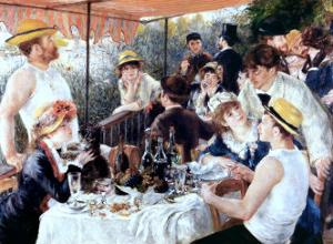 The Oarsmens Breakfast by Pierre-Auguste Renoir