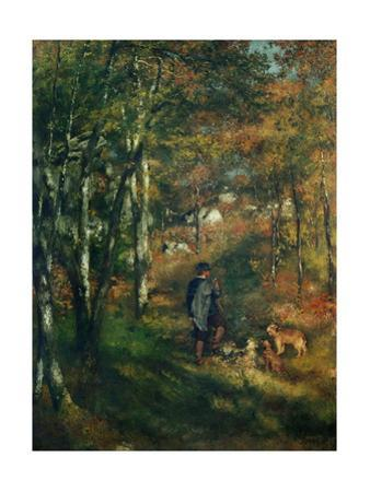 The painter Lecoeur in the woods of Fontainebleau. 1866 Canvas. by Pierre-Auguste Renoir