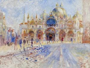 The Piazza San Marco, Venice, 1881 by Pierre-Auguste Renoir