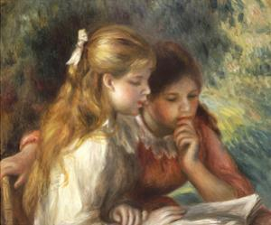 The Reading, c.1890-95 by Pierre-Auguste Renoir