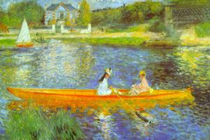 Pierre Auguste Renoir The Seine Plastic Sign