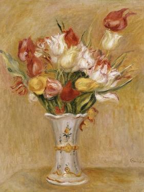Tulips in a White Vase by Pierre-Auguste Renoir