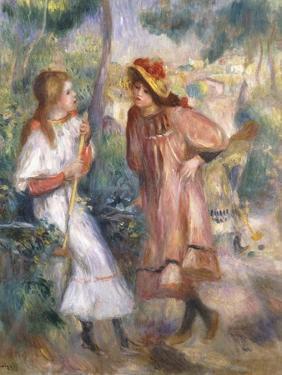 Two Girls in the Garden at Montmartre by Pierre-Auguste Renoir
