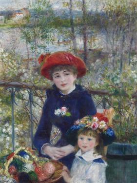 Two Sisters (On the Terrace), 1881 by Pierre-Auguste Renoir