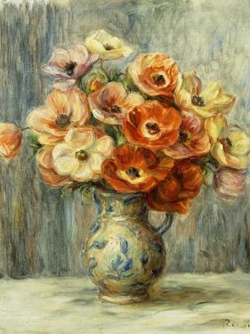 Vase d'Anemones by Pierre-Auguste Renoir
